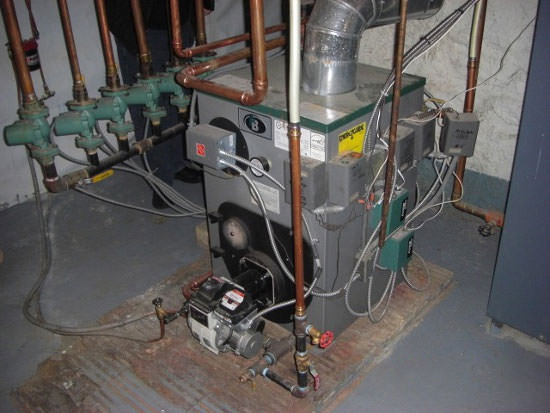 High Efficiency Oil Boiler Installation In Virginia Oil