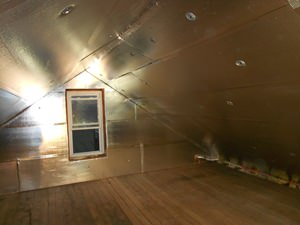 A Charlottesville attic with SuperAttic installed.