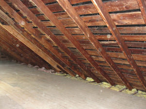 A Virginia attic before installation of SuperAttic