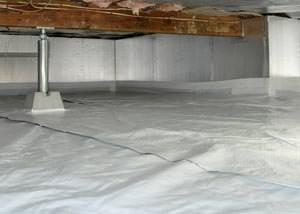 A sealed, insulated, and structurally repaired Keswick crawl space