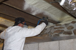 Spray Foam in the crawl space in Spotsylvania
